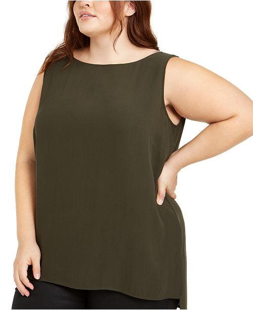 Eileen Fisher Plus Size Silk Top