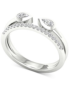 Diamond Wrap Statement Ring (1/3 ct. t.w.) in 14k White Gold