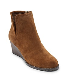 Women's Hollis V-Cut Wedge Booties