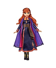 Disney Singing Anna Fashion Doll with Music Wearing a Purple Dress Inspired by Disney Frozen 2 Movie