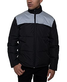 Men's Water-Repellent Colorblocked Iridescent Puffer Jacket
