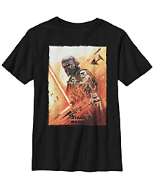 Big Boys Kylo Ren Lightsaber Poster Short Sleeve T-Shirt