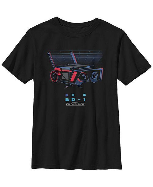 Star Wars Big Boys Jedi Fallen Order Bd-1 Grid Short Sleeve T-Shirt
