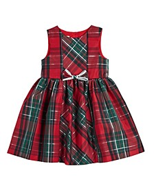 Little and Toddler Girls London Sleeveless Plaid Holiday Party Dress