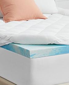 """3"""" Cool Gel + Comfort Memory Foam Topper, Queen"""