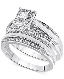 Diamond Princess Bridal Set (1/3 ct. t.w.) in 14k White Gold