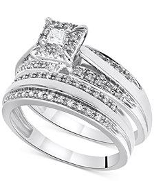 Diamond Princess Bridal Set (1/3 ct. t.w.) in 14k White Gold