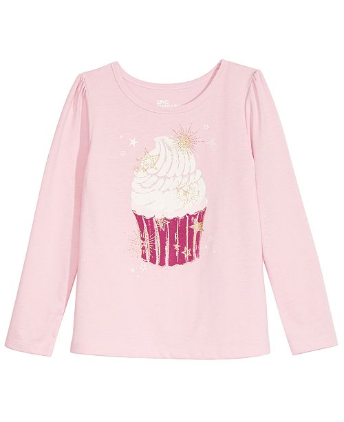 Epic Threads Toddler Girls Cupcake T-Shirt, Created For Macy's