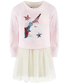 Little Girls 2-Pc. Unicorn Sweatshirt & Tutu Dress Set, Created For Macy's
