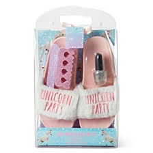 Women's Slide Slipper And Pedicure 4pc Gift Set, Online Only