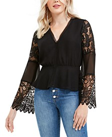 Anjali Mixed-Lace Top