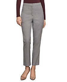 Plaid Slim-Leg Trousers