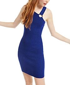 Juniors' Asymmetrical Bodycon Dress