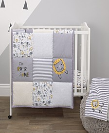 Roarsome Lion 3-Piece Mini Crib Bedding Set
