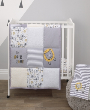 Little Love by NoJo Roarsome Lion 3-Piece Mini Crib Bedding Set Bedding