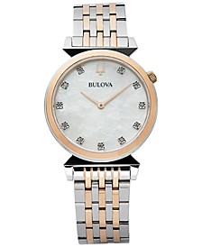 Women's Regatta Diamond-Accent Two-Tone Stainless Steel Bracelet Watch 30mm