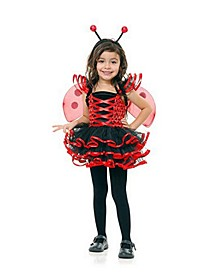 Big Girl's Lady Bug Cutie Costume