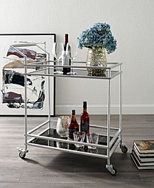 Lonnie Serving Bar Cart with Metal Frame