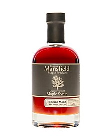 Single Malt Whiskey Barrel Aged Organic Vermont Maple Syrup, 375 ml