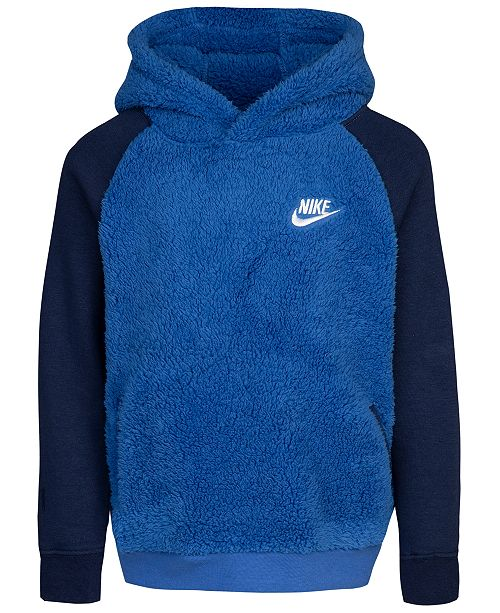 Nike Toddler Boys Faux Fur Colorblocked Hoodie