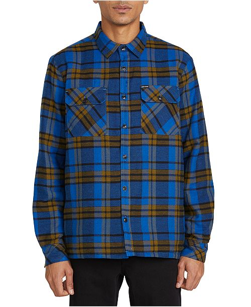 Volcom Men's Belgrade Quilted Plaid Shirt