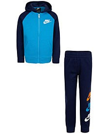 Little Boys 2-Pc. Colorblocked Fleece Hoodie & Jogger Pants Set