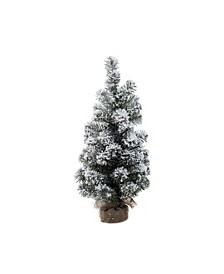 Medium Snowy Pine Tree in Bag