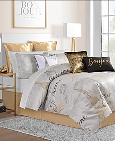 Je T'aime Paris 14-Pc.  Comforter Sets