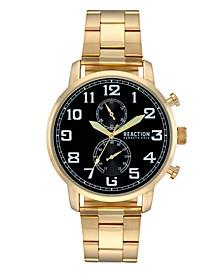 Men's Gold-Tone Metal Bracelet Watch, 46mm