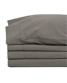 Jennifer Adams Relaxed Cotton Percale Full Sheet Set