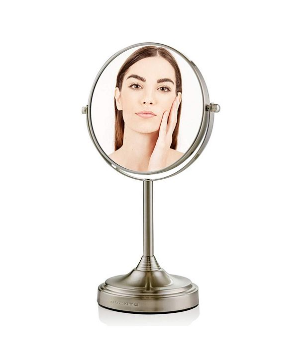 "OVENTE Tabletop Dual Sided 7"" Makeup Mirror with LED"