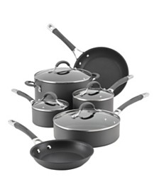 Radiance Hard-Anodized Nonstick 10 Piece Cookware Set