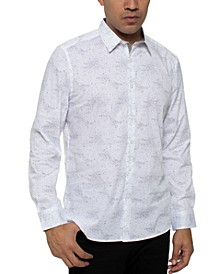 Kenneth Cole Men's Performance Stretch Galaxy-Print Shirt