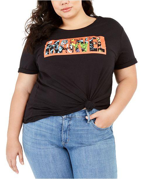 Love Tribe Plus Size Marvel Logo T-Shirt