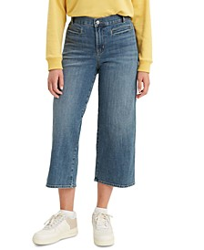 Women's Wide-Leg Cropped Jeans