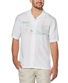 Men's Embroidered Camp Shirt
