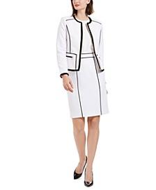 Petite Zip-Up Pique Jacket & Skirt