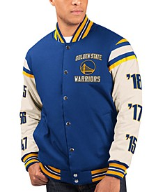 Men's Golden State Warriors Victory Formation Commemorative Varsity Jacket
