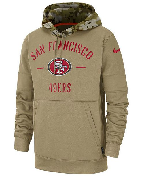 Nike Men's San Francisco 49ers Salute To Service Therma Hoodie