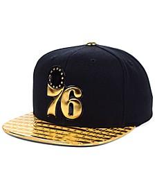 Philadelphia 76ers Black & Gold DNA Snapback Cap