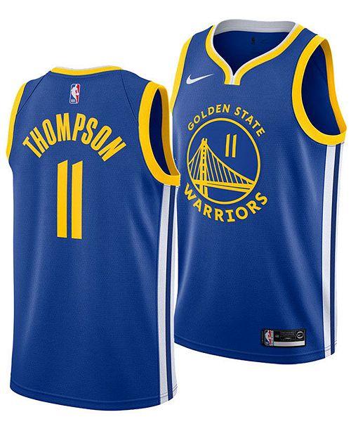 Nike Men's Klay Thompson Golden State Warriors Icon Swingman Jersey