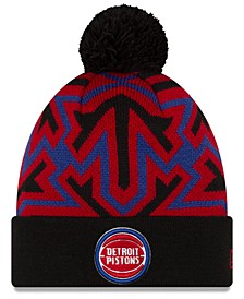 Detroit Pistons Big Flake Pom Knit Hat