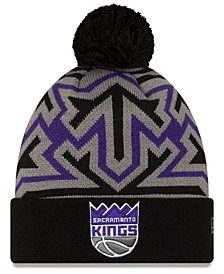 Sacramento Kings Big Flake Pom Knit Hat