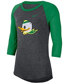 Women's Oregon Ducks Logo Raglan T-Shirt