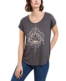 Lotus Flower Graphic-Print T-Shirt, Created for Macy's
