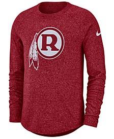 Men's Washington Redskins Historic Marled Raglan T-Shirt