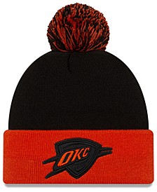 Oklahoma City Thunder Black Pop Knit Hat