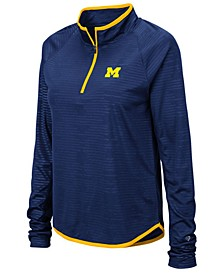 Women's Michigan Wolverines Soulmate Quarter-Zip Pullover