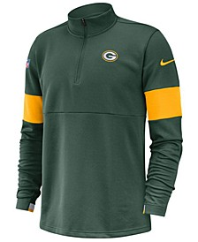 Men's Green Bay Packers Sideline Therma-Fit Half-Zip Top