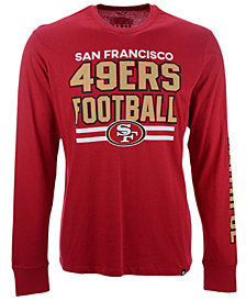 '47 Brand Men's San Francisco 49ers Dub Stack Super Rival Long Sleeve T-Shirt